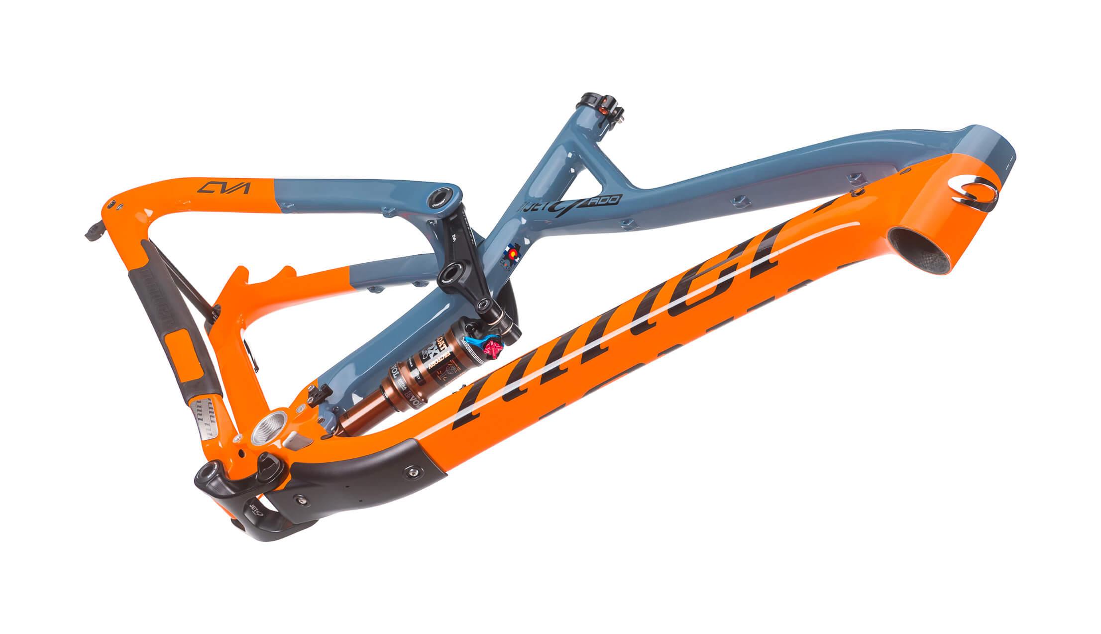 Niner JET 9 RDO 3-Star Build Slate/Orange Medium Frameset Detail