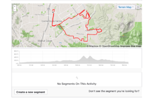 Strava screen grab of Arbolado Drive Ride on Orbea Gain