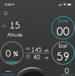 Ebikemotion app display - battery level