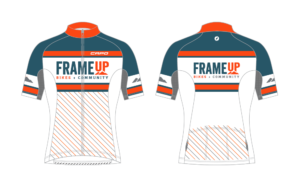 Frame Up Bikes - Limited Edition Jersey - White Throwback Short-Sleeved Jersey